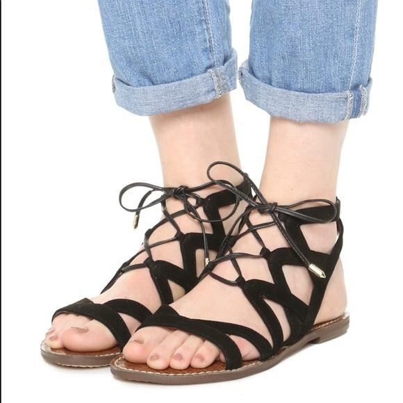 Gemma Black Suede Sandal Size 9